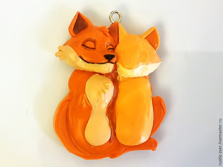 Modeling A Pendant Foxes in Love, фото № 19