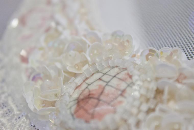 вышивка бисером, кружево, люневильская вышивка