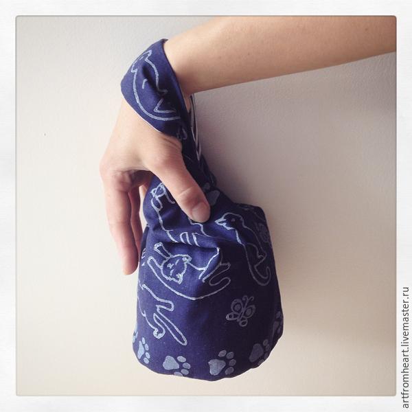 3e487c9ea799 Шьем японскую сумку-мешочек с набивным рисунком – мастер-класс для  начинающих и профессионалов
