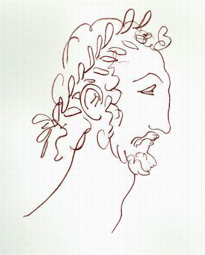 Черно-белая графика знаменитых художников, фото № 24