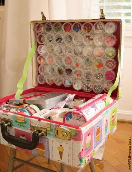 Декор чемодана своими руками