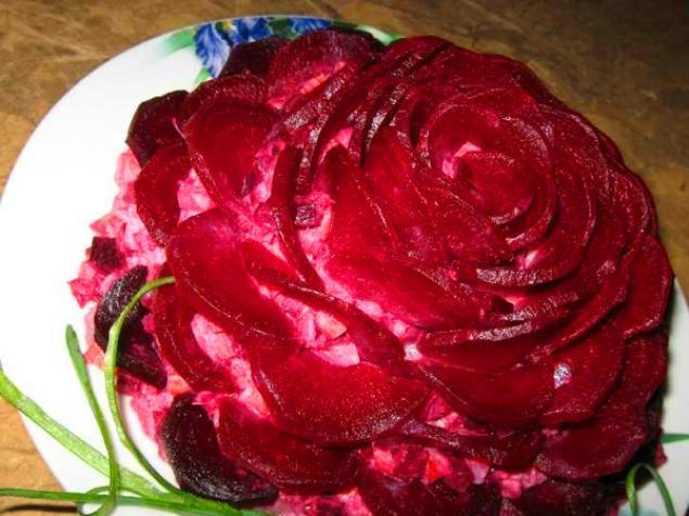 Салат розочка
