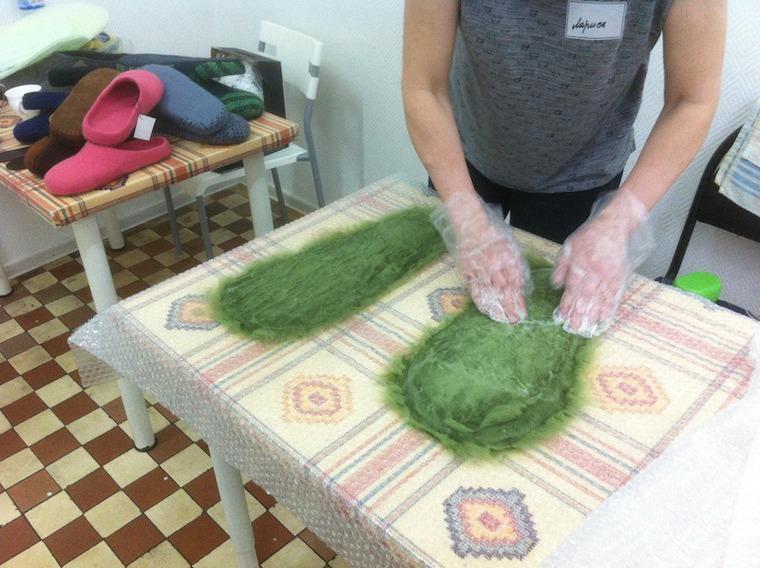 обучение валянию, научиться валять тапочки