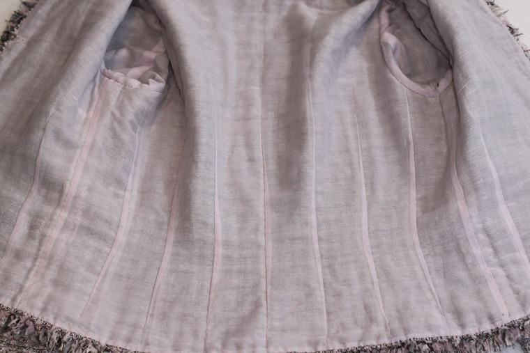 костюм от chanel, ткани из италии