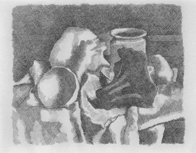 натюрморт, акватинта