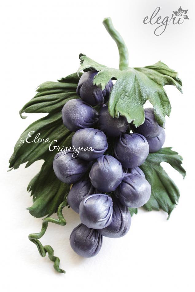 виноград из кожи, обучение цветы из кожи, эксклюзивные цветы, купить цветы, елена григорьева цветы