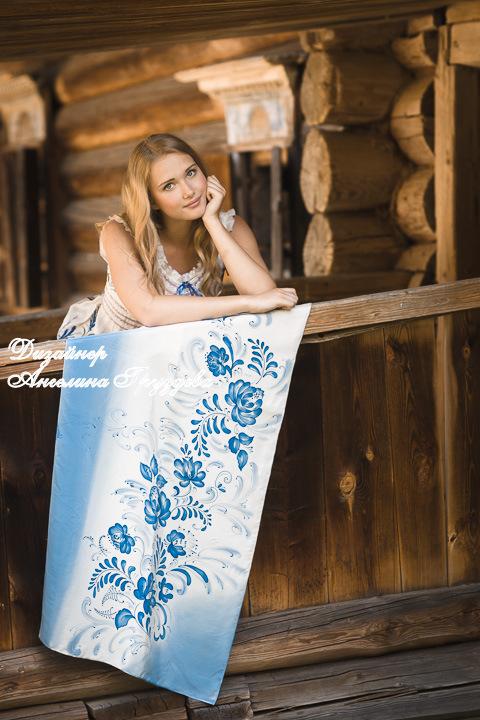 аукцион, аукцион шарф, батик, аукцион гжель, ангелина груздева, батик платок, распродажа, конфетка