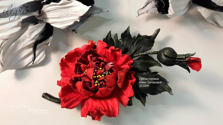 обучение цветам, купить розу, elegri, мастер-класс розы