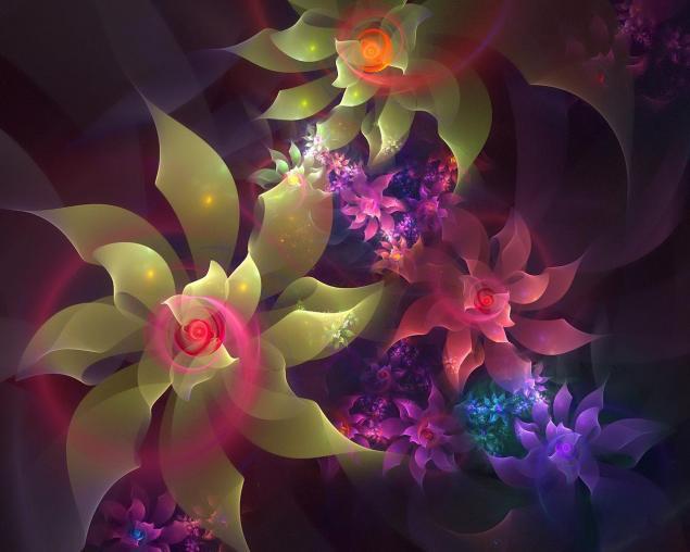 Цветочные мотивы.