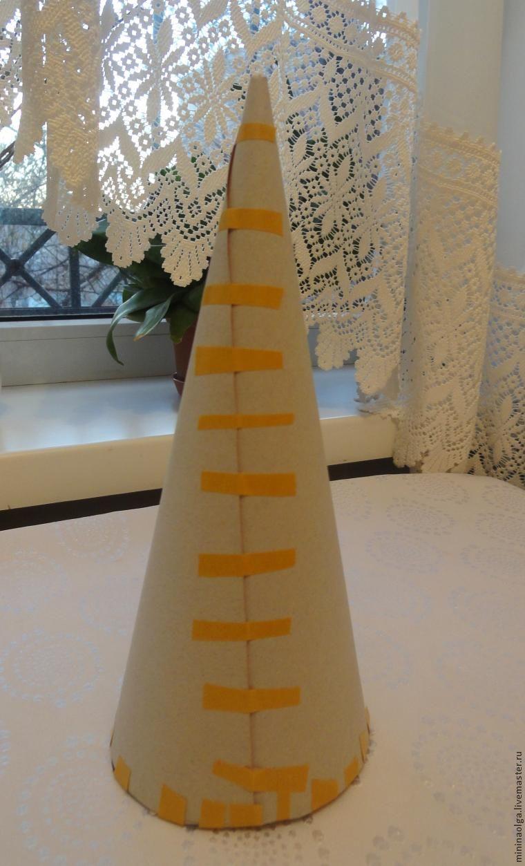 Новогодняя елочка из бумажных салфеток своими руками, фото № 9