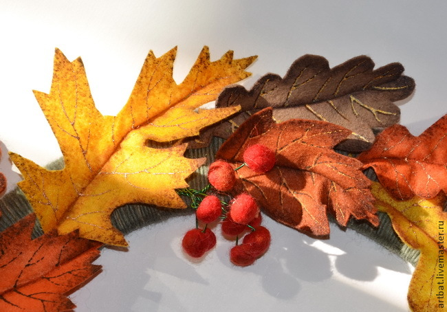 DIY Autumn Wreath Without Felting, фото № 16