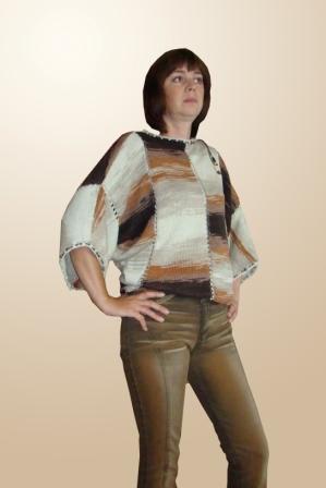 Вяжем свитер «летучая мышь» из меланжевой пряжи, фото № 5