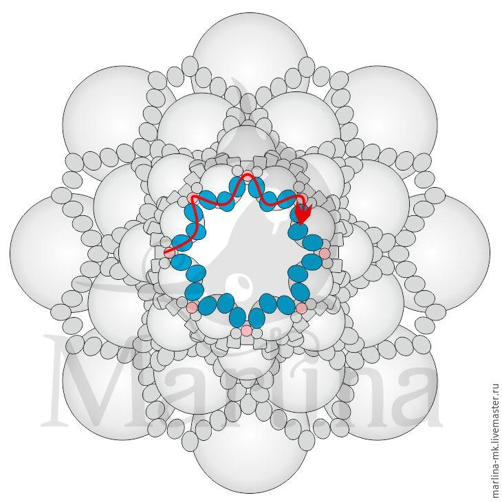 Jellyfish Pendant DIY with Pearls and Swarovski Crystals, фото № 22