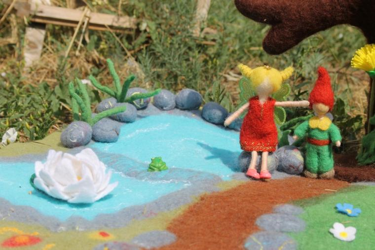 коврик валяный, вальдорфская игрушка