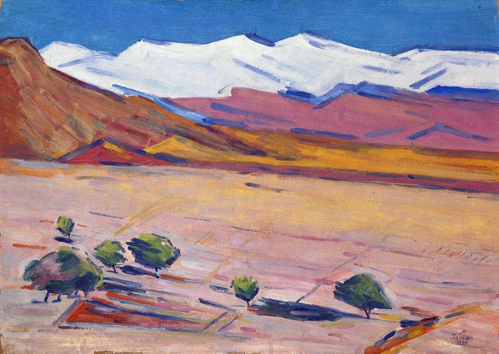 1929 Landscape. ЧС - Сарьян Мартирос Сергеевич