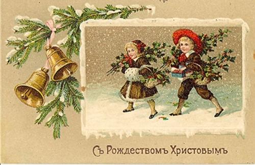 Старинные рождественские открытки: 35 трогательных изображений, фото № 32