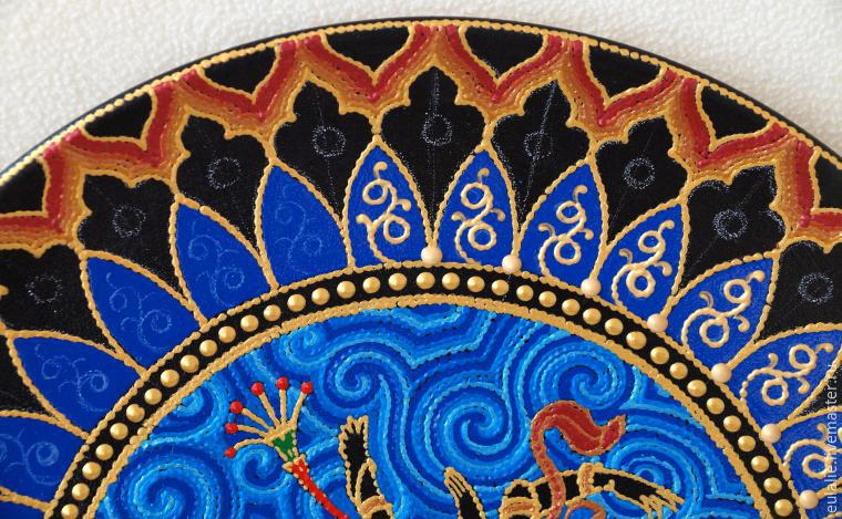 Мастер-класс по точечной росписи: тарелка-панно «танцующий Шива», фото № 17