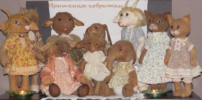 иришкины коврижки, кофейные игрушки, овечки, кошка, коллекционные куклы