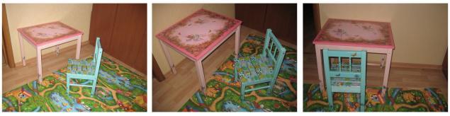 мебель, декупаж на дереве, детям