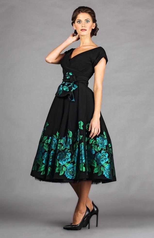 Вечернее платье из купонной ткани