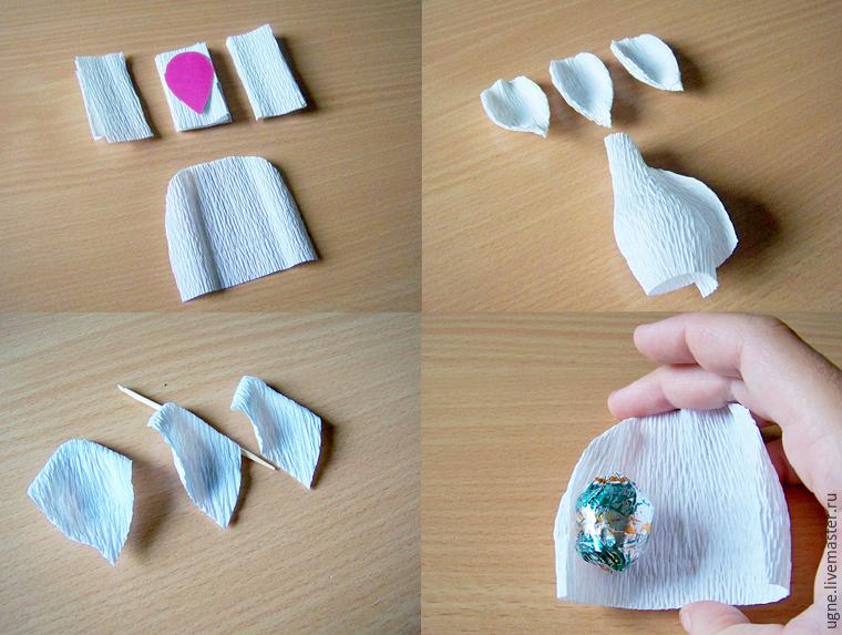 композиция из конфет