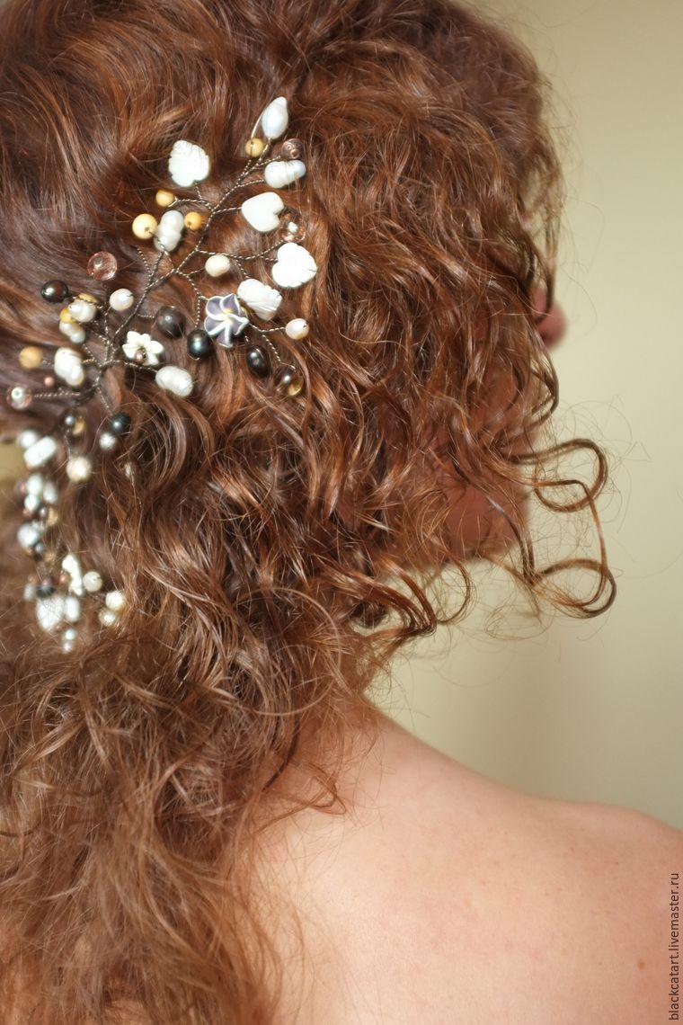 Украшение для волос из жемчуга своими руками фото 417