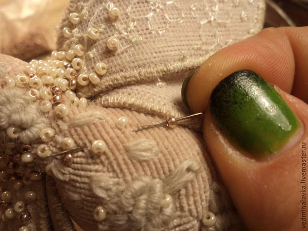 Текстильная брошь-мотылек, фото № 20