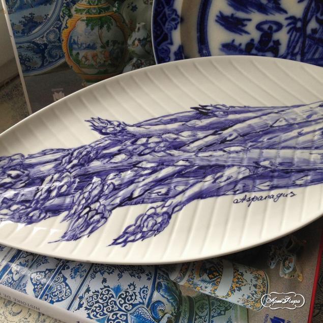 тарелка, надглазурная роспись