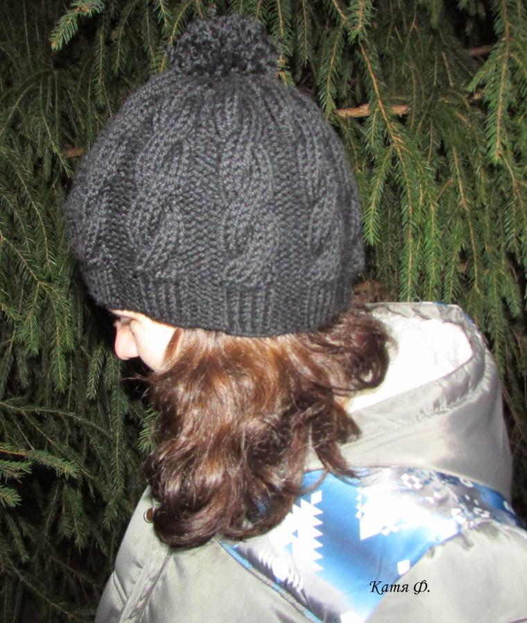 шапки ручной работы, шапка вязаная, шапка ажурная, шапка с крупной вязкой