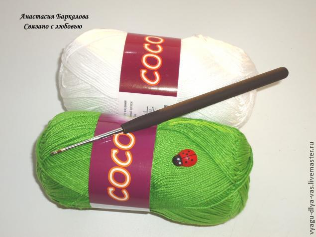 Вязание начинаем от макушки.