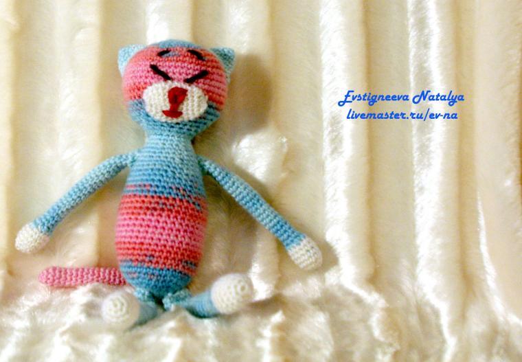 котики, вязание, вязаные игрушки, день святого валентина
