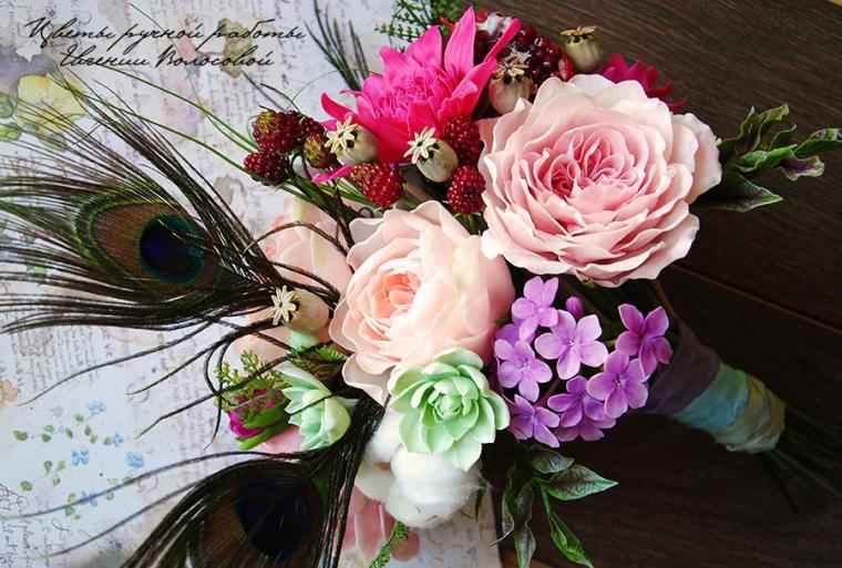 цветы ручной работы, розы
