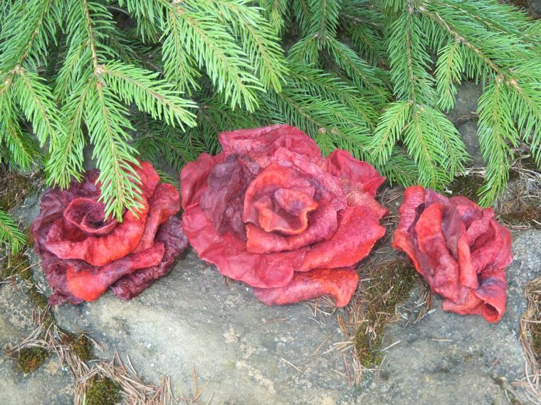 мастер-класс по валянию, мокрое валяние, цветок, цветы из шелка