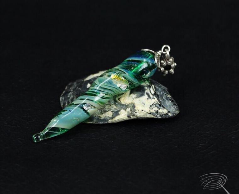 бусины, кулон, бусы, художественное стекло, украшения ручной работы