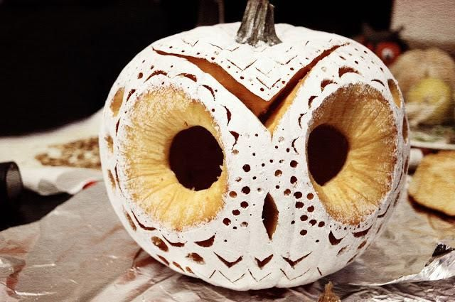 DIY Owl Pumpkin