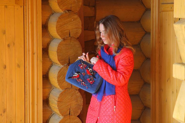 сумочка на фермуаре
