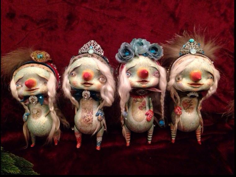 новый год 2015, кукла, коза, коллекционная кукла, часы