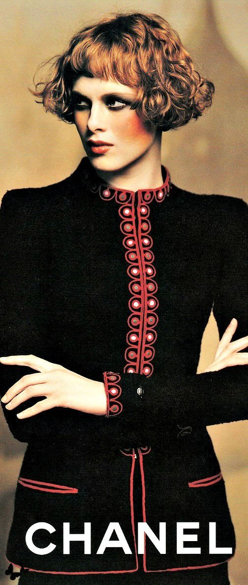 Chanel...mt: Very classy,but the neckline is too high for me