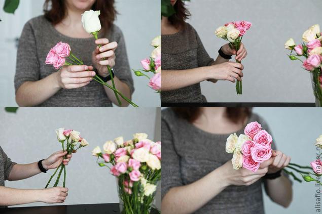 Как создать букет из цветов