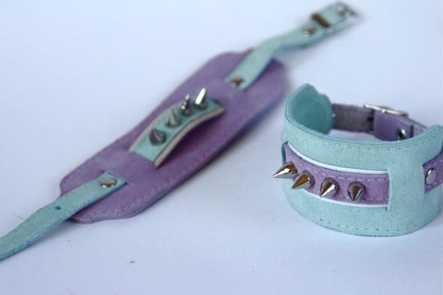 распродажа, браслет из кожи, браслеты с шипами, фиолетовый