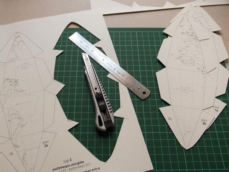 Как сделать глобус из бумаги 2 класс - HairyTale