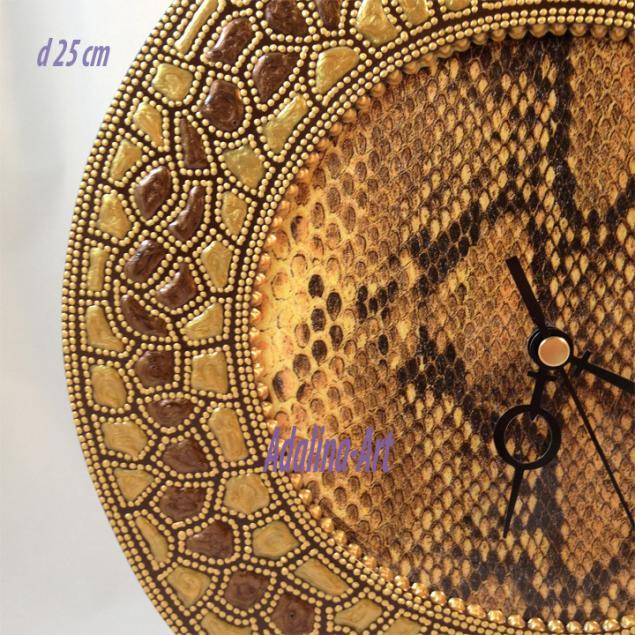 часы, этно, роспись, adalina-art, обучение точечной росписи