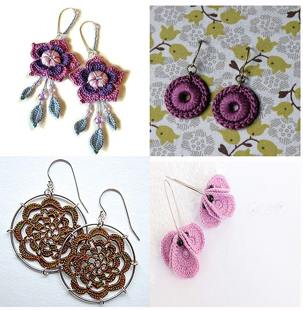 令人惊叹的针织饰品(手镯、耳环、头饰及其它) - maomao - 我随心动