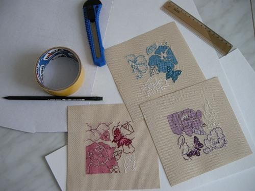 Открытки ручной работы с вышивкой