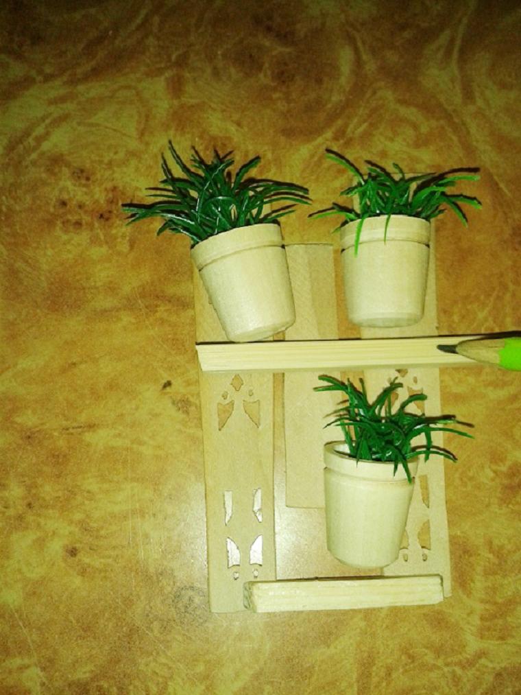 Мастерим декоративный забор с цветочными горшками для мини-садика, фото № 5