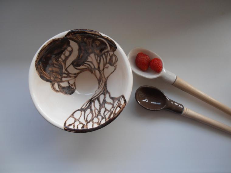 керамика ailandas, клубника смолоком