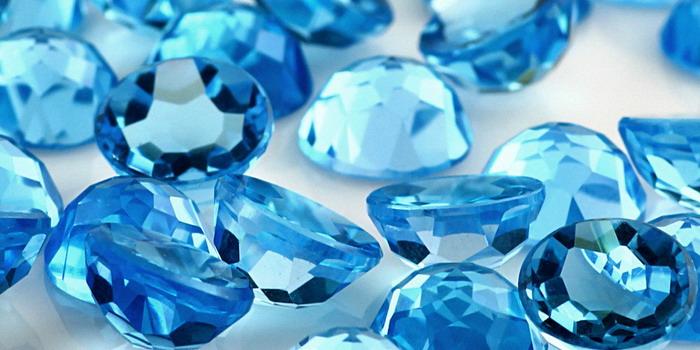 Камень голубого цвета фото