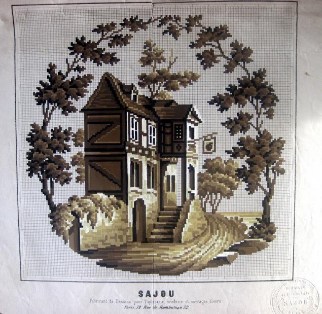 Схемы вышивки гобеленов из старых журналов