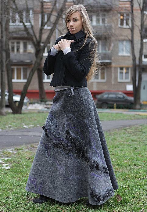 Мастер класс валяние юбки