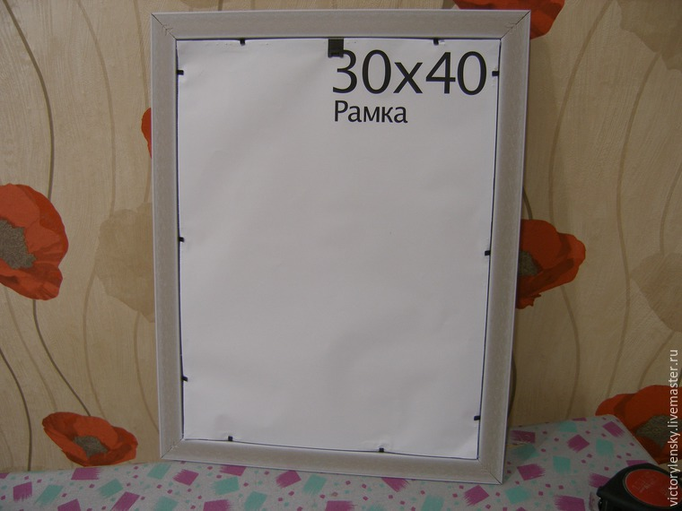 Оформление готовой вышивки в рамку, фото № 15